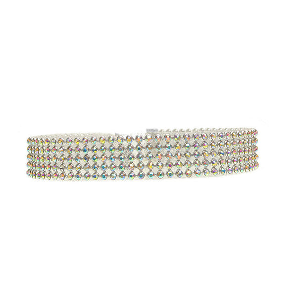 Multicolor  crystal mix size  choker necklace