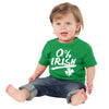 0% Irish Funny St Patricks Day shirt for Infants and Toddlers