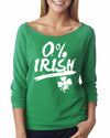 0% Irish Womens Long Sleeve Shirt