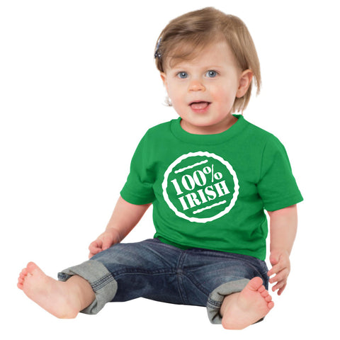 100% irish Saint Patricks Day shirt for toddlers