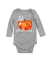 First Halloween Pumpkin Baby Bodysuit