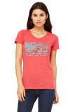 American Flag Fourth Of July Women's Tee