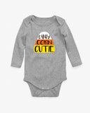 Candy Corn Cutie Long Sleeve Baby Bodysuit