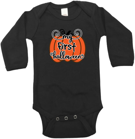 Baby's First Halloween cute long sleeve bodysuit