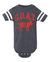 Tom Brady GOAT New England Football Baby Bodysuit