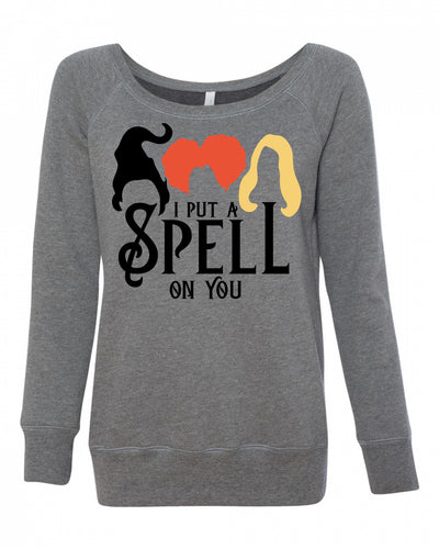I Put A Spell On You Womens Wideneck Sweatshirt