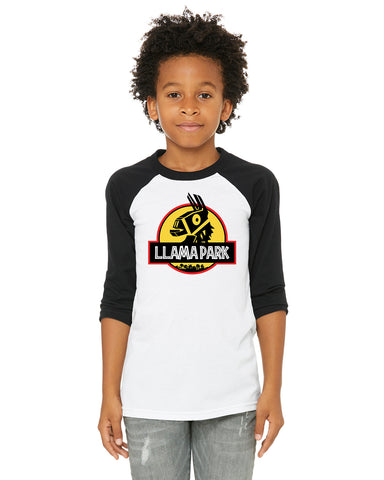 Fortnite Llama Park Kids/Youth/Toddler 3/4 Length Raglan Baseball Shirt