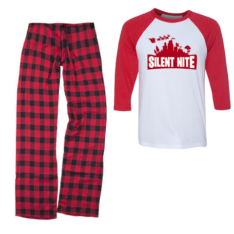 Silent Nite Fortnight Gamer Pajamas/Christmas Pajamas For Youth/Kids