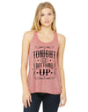 Tonight is Bottoms Up Country Music Women's Tank Top
