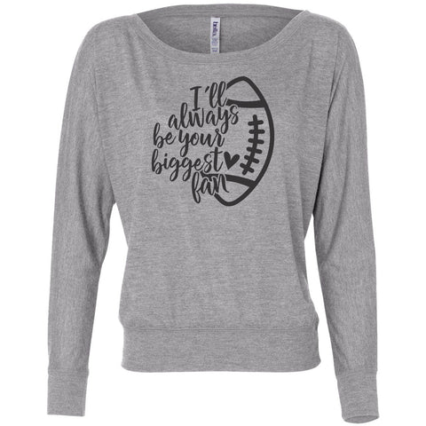 Your Biggest Fan Football Mom Long Sleeve Shirt