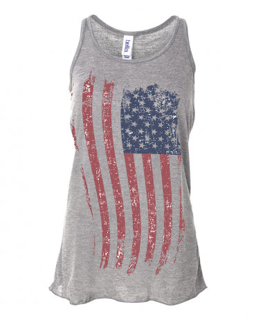 American Flag Fourth of July Tank top For Women and Girls