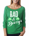 Bad and Boozy Saint Patrick's Day 3/4 Length Shirt