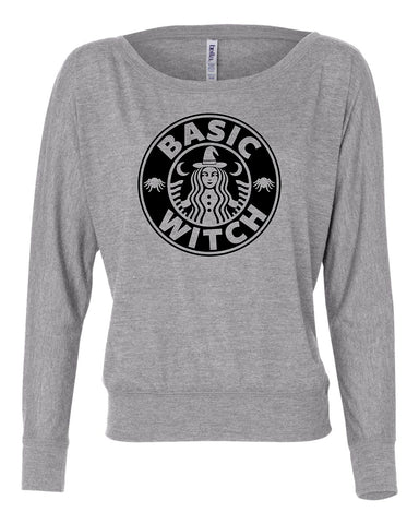 Basic witch long sleeve shirt