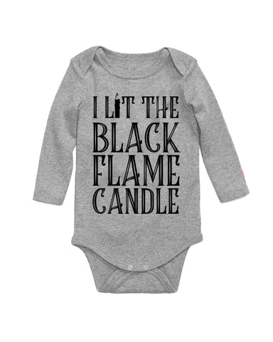 Lit The Black Flame Candle Hocus Pocus Baby Bodysuit