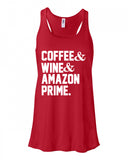 Coffee Wine & Amazon Prime Tank Top