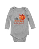 Cutest Pumpkin in The Patch Long Sleeve Baby Bodysuit