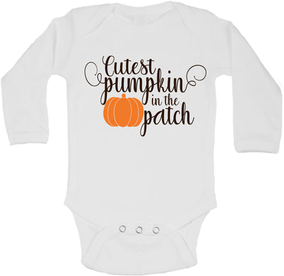 Cutest Pumpkin In the Patch Baby Long Sleeve Bodysuit