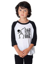 Dab To the Bone Dabbing Skeleton Kids Baseball Shirt