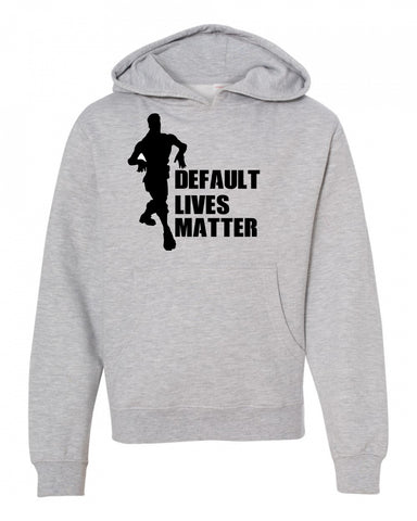 Default Lives Matter Fortnite Youth Sweatshirt Hoodie