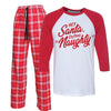Hey Santa Define Naughty Funny Christmas matching Pajamas