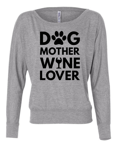 Dog Mother Wine Lover Women's Long Sleeve Shirt