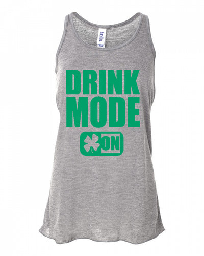 Drink mode On St Paddys day Tanks for women