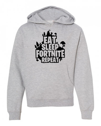 Eat Sleep Fort-nite Repeat Hoodie for Youth and Adult