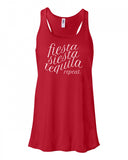 Siesta Fiesta Tequila Repeat Tank Top