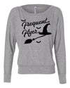 Frequent Flyer Witch Womens Long Sleeve Shirt
