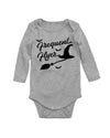 Frequent Flyer Witch Halloween Long Sleeve Baby Bodysuit