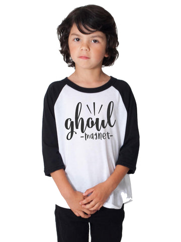 Ghoul Magnet Toddler and Boys Long Sleeve Halloween Shirt