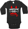 Handsome Devil Long Sleeve Baby Bodysuit