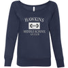 Hawkins Middle School AV Club Women's Wideneck Sweatshirt