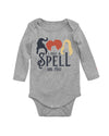 I Put a Spell on You Hocus Pocus Long Sleeve Baby Bodysuit