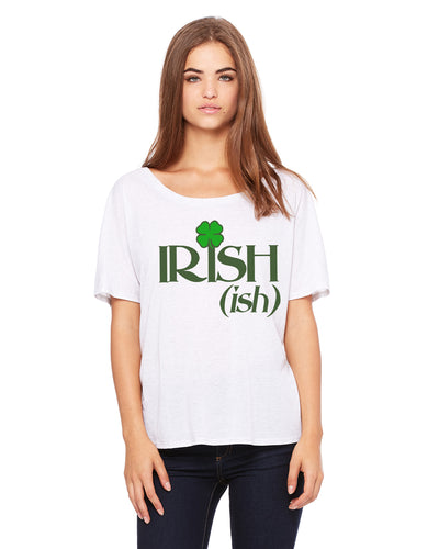 Irish Ish Womens Flowey T-Shirt