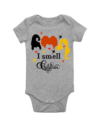 I smell Children Short Sleeve baby bodysuit for Halloween