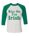 Kiss Me I'm Irish Toddler Baseball Shirt