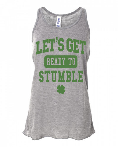 Let's Get Ready To Stumble St Pattys Day Tank Top For Women