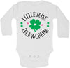 Little Miss Lucky Charm Saint Patricks Day Long Sleeve baby bodysuit