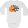 Little Miss Pumpkin Spice Halloween Fall Baby Long Sleeve Bodysuit