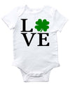 Love Shamrock Irish Baby Bodysuit for baby boys baby girl