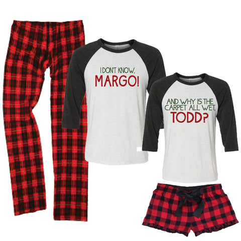 Christmas Vacation Margo/Todd Pajamas for Men And Women