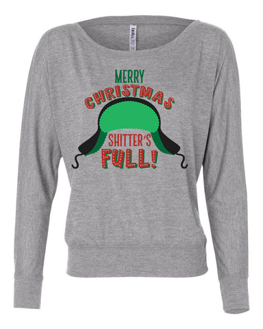 Merry Christmas S****** Full Christmas Vacation Long Sleeve womens shirt