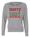 Merry Christmas Ya Filthy Animal Womens Long Sleeve Shirt