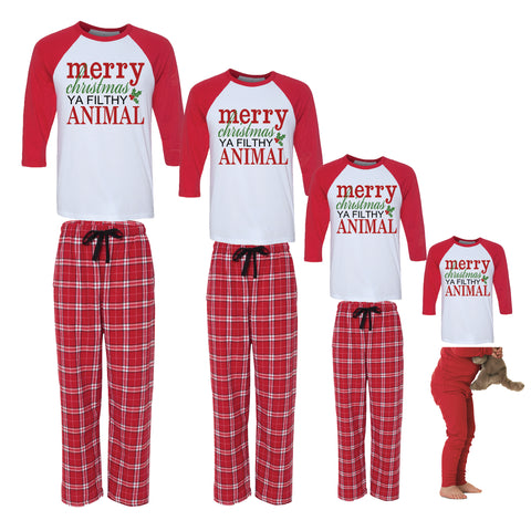 Merry Christmas Ya Filthy Animal Family Christmas  Family Pajamas