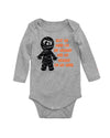 Got My Mind on My Mummy Baby Halloween long Sleeve Bodysuit