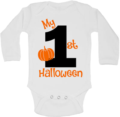 My First Halloween long sleeve Baby Bodysuit