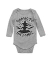 Namaste Witches Halloween Long Sleeve Baby Bodysuit