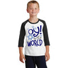 Oy To The World Funny Hanukkah Shirt For Kids and Toddlers
