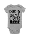 Party At My Crib Short Sleeve Baby Bodysuit